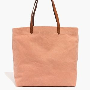 Madewell The Canvas Transport Tote Antique Coral